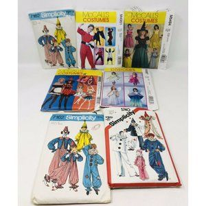 7 Children Adult Costume Sewing Patterns Clowns